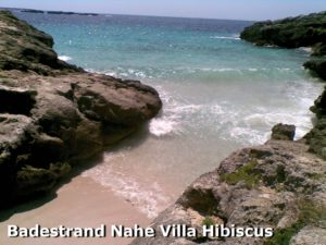 Badestrand nahe Villa Hibiscus auf Menorca
