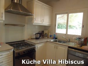 Küche Villa Hibiscus auf Menorca