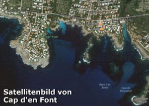 Satellitenbild vom Cap d'en Font